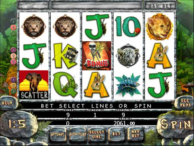 jungle slot games online